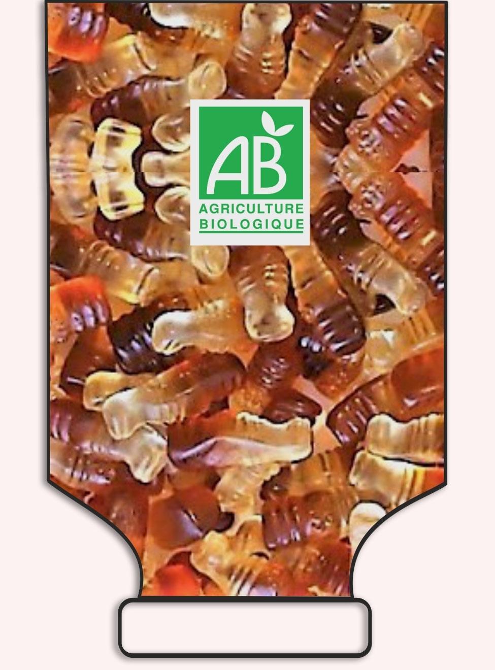 Bouteilles saveur cola en sac - réf.1025