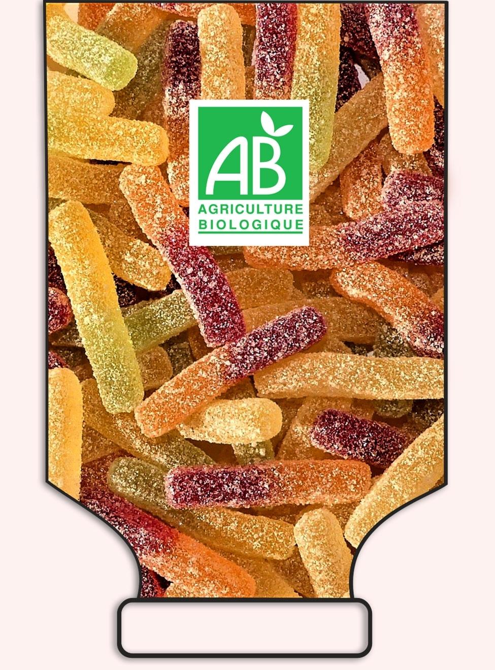 Frites fruitées et acidulées en sac -origine France - réf.1019