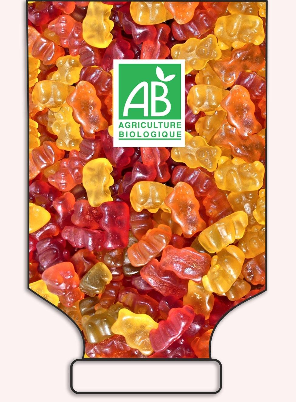 Bears pectine fruit in bulk - VEGAN - French Origine - art.1036